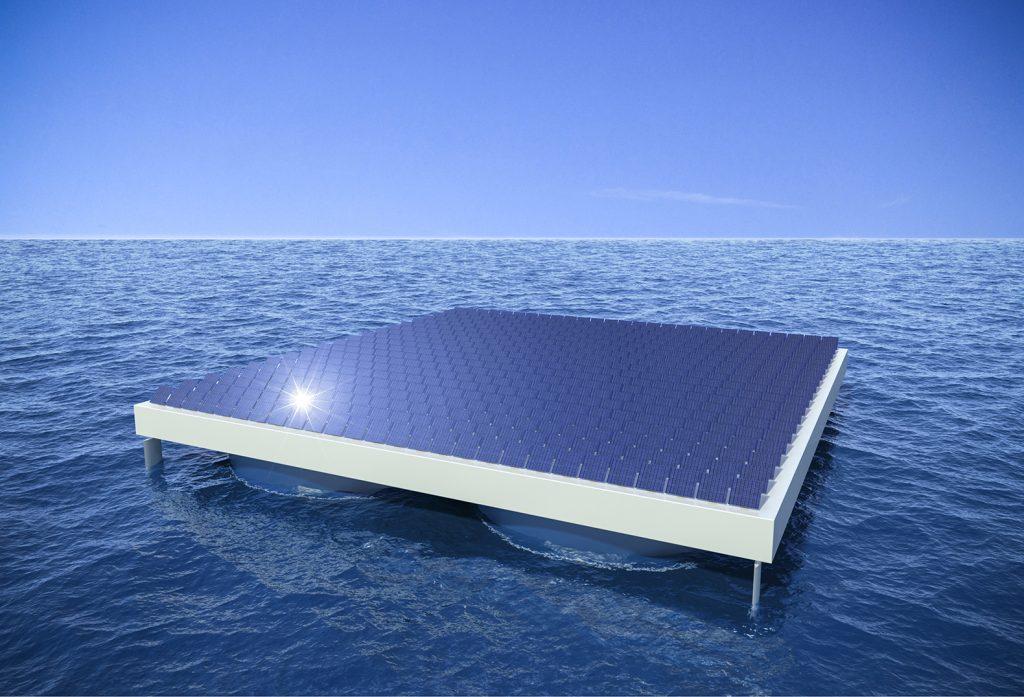 Сонячна електростанція в морі