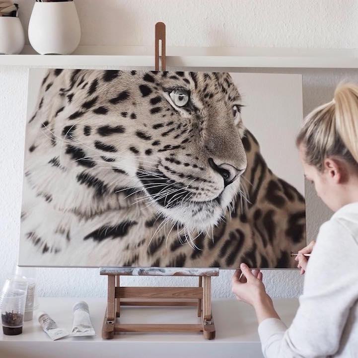 Franziska Treptow картина з леопардом
